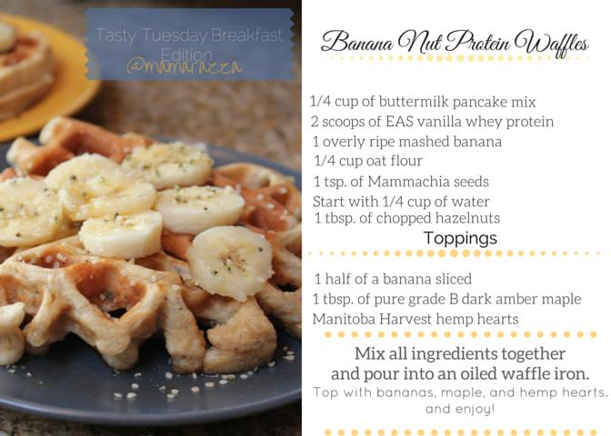Banana Nut Protein Waffles by Mamarazza