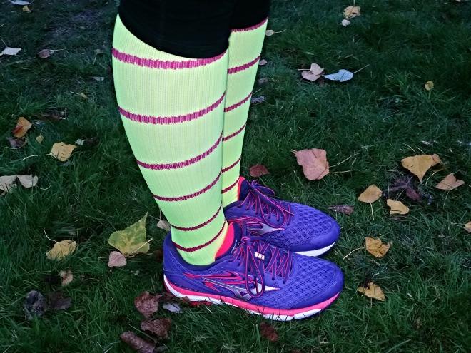 procompression socks and mizuno wave inspire 12